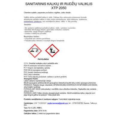 Sanitarinis kalkių ir rudžių valiklis XTP 2050 1L 2