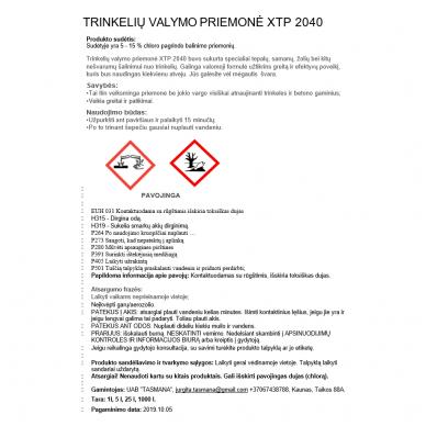 Trinkelių valymo priemonė XTP 2040 1L 2